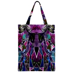 Sly Dog Modern Grunge Style Blue Pink Violet Zipper Classic Tote Bag by EDDArt