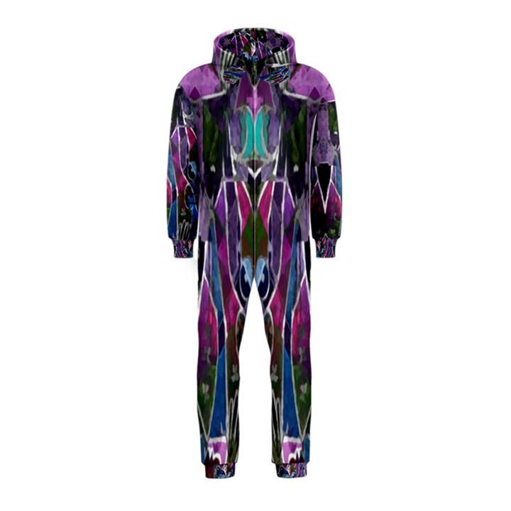 Sly Dog Modern Grunge Style Blue Pink Violet Hooded Jumpsuit (Kids)