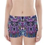 Sly Dog Modern Grunge Style Blue Pink Violet Boyleg Bikini Wrap Bottoms