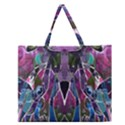 Sly Dog Modern Grunge Style Blue Pink Violet Zipper Large Tote Bag View1