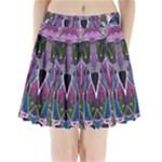 Sly Dog Modern Grunge Style Blue Pink Violet Pleated Mini Skirt
