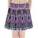 Sly Dog Modern Grunge Style Blue Pink Violet Pleated Mini Skirt View1