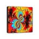 Crazy Mandelbrot Fractal Red Yellow Turquoise Mini Canvas 4  x 4  View1