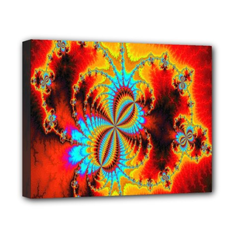Crazy Mandelbrot Fractal Red Yellow Turquoise Canvas 10  X 8  by EDDArt