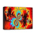 Crazy Mandelbrot Fractal Red Yellow Turquoise Deluxe Canvas 16  x 12   View1