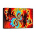 Crazy Mandelbrot Fractal Red Yellow Turquoise Deluxe Canvas 18  x 12   View1