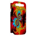 Crazy Mandelbrot Fractal Red Yellow Turquoise Samsung Galaxy S III Hardshell Case (PC+Silicone) View2