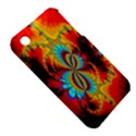 Crazy Mandelbrot Fractal Red Yellow Turquoise Apple iPhone 3G/3GS Hardshell Case (PC+Silicone) View5