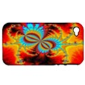 Crazy Mandelbrot Fractal Red Yellow Turquoise Apple iPhone 4/4S Hardshell Case (PC+Silicone) View1