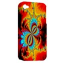 Crazy Mandelbrot Fractal Red Yellow Turquoise Apple iPhone 4/4S Hardshell Case (PC+Silicone) View2