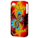 Crazy Mandelbrot Fractal Red Yellow Turquoise Apple iPhone 4/4S Hardshell Case (PC+Silicone) View3