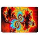 Crazy Mandelbrot Fractal Red Yellow Turquoise Samsung Galaxy Tab 8.9  P7300 Flip Case View1