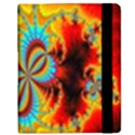 Crazy Mandelbrot Fractal Red Yellow Turquoise Samsung Galaxy Tab 8.9  P7300 Flip Case View2