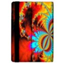 Crazy Mandelbrot Fractal Red Yellow Turquoise iPad Air Flip View4