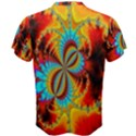 Crazy Mandelbrot Fractal Red Yellow Turquoise Men s Cotton Tee View2