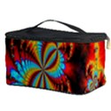 Crazy Mandelbrot Fractal Red Yellow Turquoise Cosmetic Storage Case View3