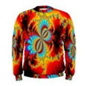 Crazy Mandelbrot Fractal Red Yellow Turquoise Men s Sweatshirt View1