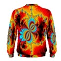 Crazy Mandelbrot Fractal Red Yellow Turquoise Men s Sweatshirt View2