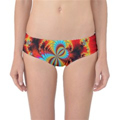 Crazy Mandelbrot Fractal Red Yellow Turquoise Classic Bikini Bottoms