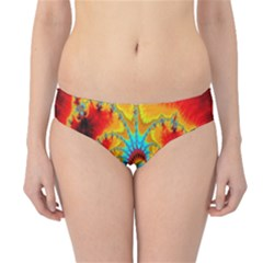 Crazy Mandelbrot Fractal Red Yellow Turquoise Hipster Bikini Bottoms