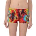 Crazy Mandelbrot Fractal Red Yellow Turquoise Reversible Boyleg Bikini Bottoms View1