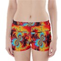 Crazy Mandelbrot Fractal Red Yellow Turquoise Boyleg Bikini Wrap Bottoms View1