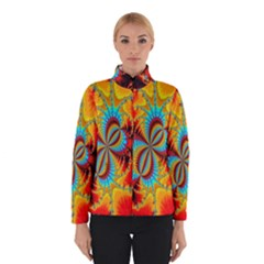 Crazy Mandelbrot Fractal Red Yellow Turquoise Winterwear by EDDArt