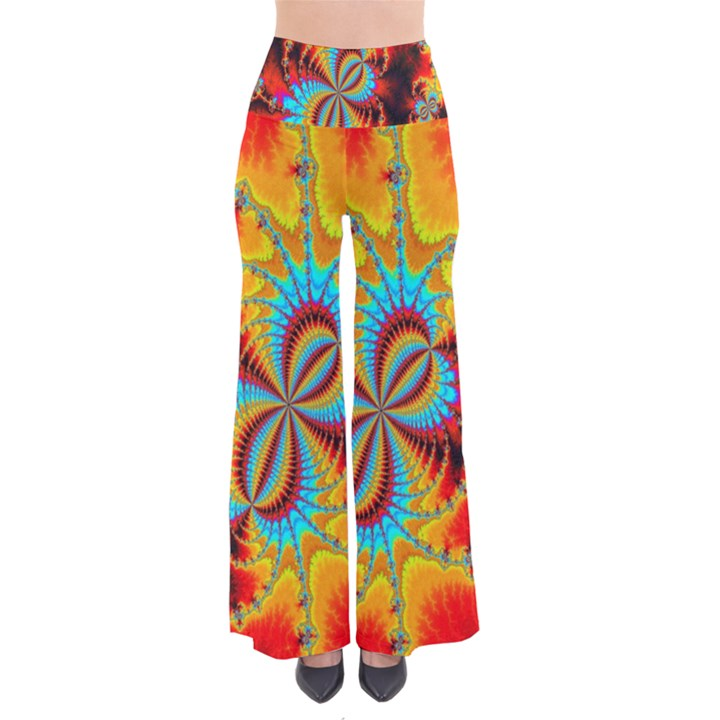 Crazy Mandelbrot Fractal Red Yellow Turquoise Pants