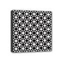 Modern Dots In Squares Mosaic Black White Mini Canvas 4  x 4  View1