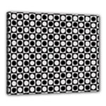 Modern Dots In Squares Mosaic Black White Canvas 24  x 20