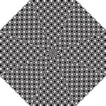 Modern Dots In Squares Mosaic Black White Folding Umbrellas