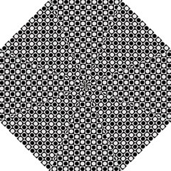 Modern Dots In Squares Mosaic Black White Straight Umbrellas