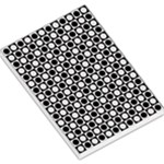 Modern Dots In Squares Mosaic Black White Large Memo Pads