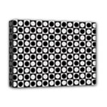 Modern Dots In Squares Mosaic Black White Deluxe Canvas 16  x 12