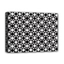 Modern Dots In Squares Mosaic Black White Deluxe Canvas 16  x 12   View1