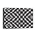 Modern Dots In Squares Mosaic Black White Deluxe Canvas 18  x 12   View1