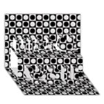Modern Dots In Squares Mosaic Black White Miss You 3D Greeting Card (7x5)