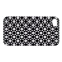 Modern Dots In Squares Mosaic Black White Apple iPhone 4/4S Hardshell Case View1