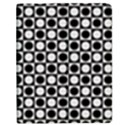 Modern Dots In Squares Mosaic Black White Apple iPad Mini Flip Case View1