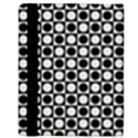 Modern Dots In Squares Mosaic Black White Apple iPad Mini Flip Case View3