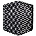 Modern Dots In Squares Mosaic Black White Apple iPad Mini Flip Case View4