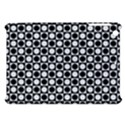 Modern Dots In Squares Mosaic Black White Apple iPad Mini Hardshell Case View1