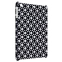 Modern Dots In Squares Mosaic Black White Apple iPad Mini Hardshell Case View2