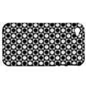 Modern Dots In Squares Mosaic Black White Apple iPhone 4/4S Hardshell Case (PC+Silicone) View1