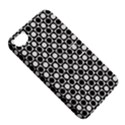 Modern Dots In Squares Mosaic Black White Apple iPhone 4/4S Hardshell Case with Stand View5