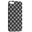 Modern Dots In Squares Mosaic Black White Apple iPhone 5 Hardshell Case with Stand View2
