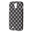 Modern Dots In Squares Mosaic Black White Samsung Galaxy S4 I9500/I9505 Hardshell Case View3