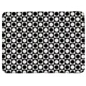 Modern Dots In Squares Mosaic Black White Samsung Galaxy Tab 7  P1000 Flip Case View1