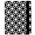 Modern Dots In Squares Mosaic Black White Samsung Galaxy Tab 7  P1000 Flip Case View2