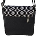 Modern Dots In Squares Mosaic Black White Flap Messenger Bag (S) View1